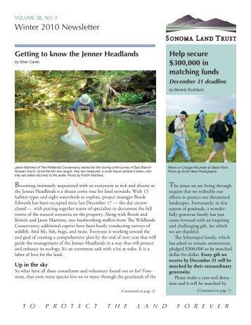 toprotectthelandforev er - Sonoma Land Trust