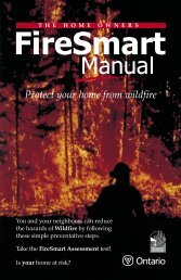 Home Owners FireSmart Manual - Ministry of Natural Resources