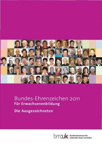 Bundes-Ehrenzeichen 2011 für Erwachsenenbildung. Die ...
