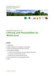 komfortlüftung.at - Info Nr. 6 Feuerstellen im Wohnraum V 1.0
