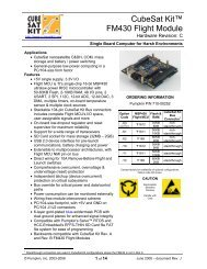 CubeSat Kit FM430 Flight Module