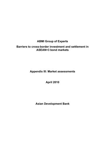 Market assessment - Personal File Sharing - Asian Development Bank