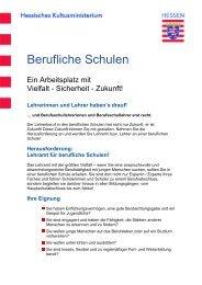 Lehramt für berufliche Schulen! - Technische Universität Darmstadt