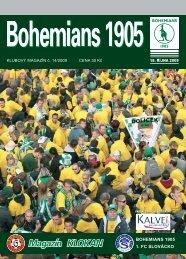 Číslo 14/2009 B1905 - Slovácko - Bohemians 1905