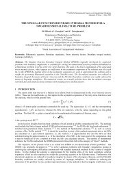 the singular function boundary integral method for a two ...