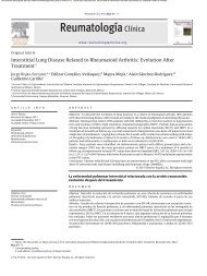 Interstitial Lung Disease Related to Rheumatoid Arthritis ... - panlar