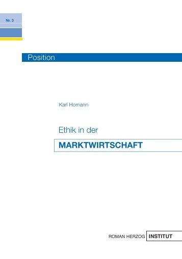 Ethik in der MARKTWIRTSCHAFT - Roman Herzog Institut