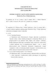 1 ZARZĄDZENIE NR 14 MINISTRA PRACY I POLITYKI ...