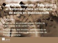 Éducation et traitement dans un contexte de soins en établissement