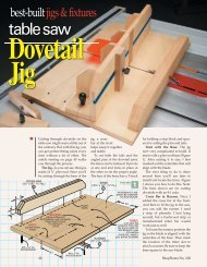 Table Saw Dovetail Jig - Woodsmith Woodworking Seminars
