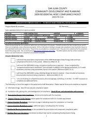 2009 Residential Energy Form - San Juan County