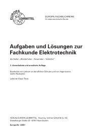Aufgaben und Lösungen zur Fachkunde Elektrotechnik