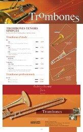 Télécharger le catalogue TROMBONES - Feeling Musique