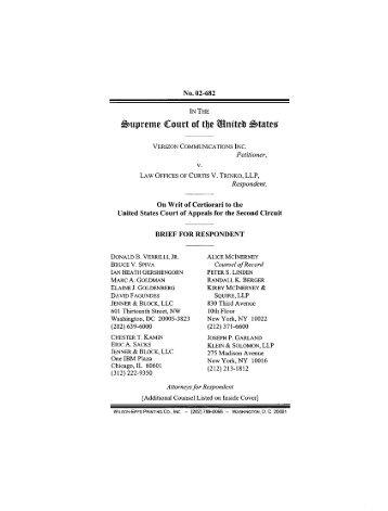 Supreme Caurt af theUnite State - Jenner & Block