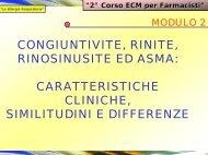 CARATTERISTICHE - Clinica malattie apparato respiratorio