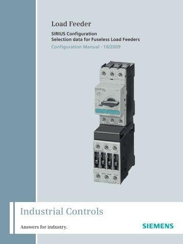 Configuration Manual SIRIUS Configuration Fuseless ... - Siemens