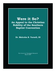 Were it So? - Baptist Theology