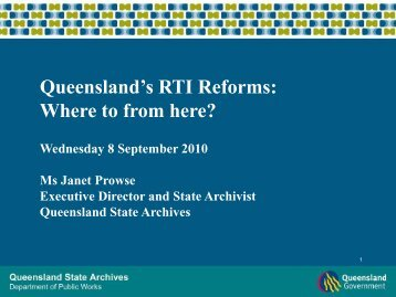 Right to information in Queensland: Where to from here?