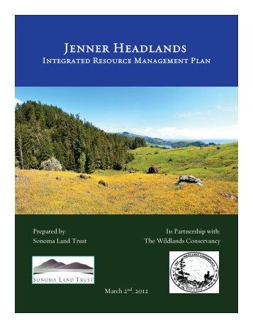 Jenner Headlands IRMP executive summary - Sonoma Land Trust