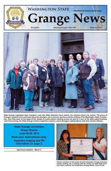 March 2013 Issue - Washington State Grange