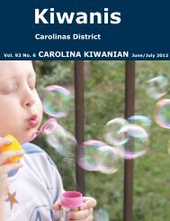 June/July 2012 - Carolinas District Kiwanis - KiwanisOne.org