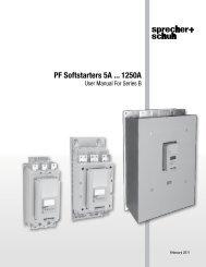 PF Softstarter User manual [PDF] - Sprecher + Schuh
