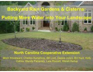 Backyard Rain Gardens & Cisterns - National Water Program