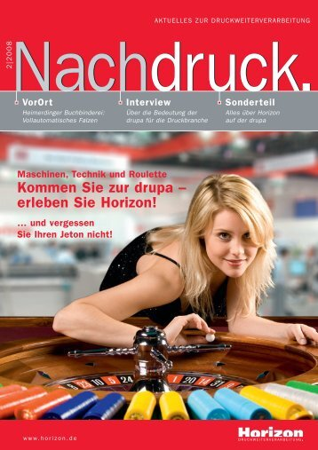 Maschinen, Technik und Roulette Kommen Sie zur ... - Horizon GmbH