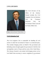 civil litigation/solicitor's division - The Attorney General of Guam