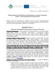 Příloha č. 2 - Doklady požadované k Rozhodnutí o poskytnutí dotace a