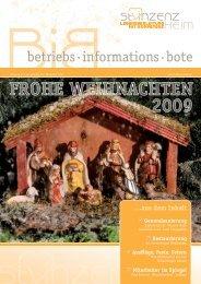 FROHE WEIHNACHTEN 2009 - St. Vinzenz Heim