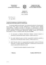 Ordin Nr. 69 - Ministerul Sănătăţii