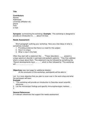 Proposal Form For Cpd Courses Seminarworkshops Higher