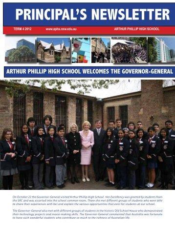 PRINCIPAL'S NEWSLETTER - Arthur Phillip High School