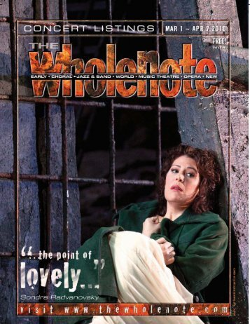 March - The Wholenote Magazine