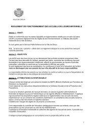 Réglement du fonctionnement - Dreux.com