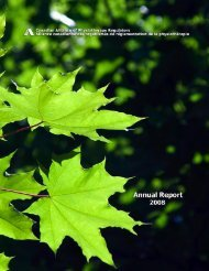 Annual Report 2008 - Canadian Alliance of Physiotherapy Regulators