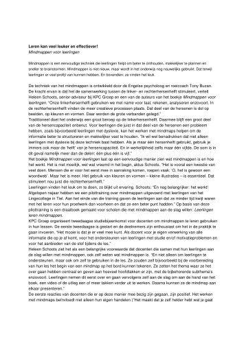 46) J. Simons Mindmappen voor leerlingen in Bij de les 2(2006)