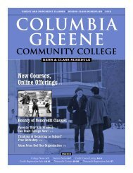 New Courses, Online - Columbia-Greene Community College