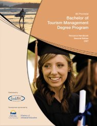 Bachelor Of Tourism Management Degree Program - LinkBC