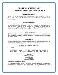 ley electoral y de partidos políticos - Organismo Judicial