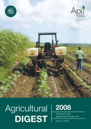 The 2008 Agricultural Digest - Ministry of Agriculture and Rural ...