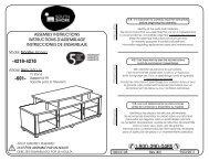 assembly instructions instrucciones de ensamblaje ... - Home Depot