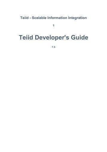 Teiid Developer's Guide - JBoss