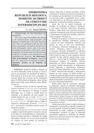 Hidronimia Republicii Moldova domeniu si obiect de ... - Akademos