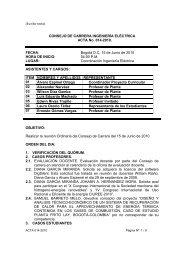 CONSEJO DE CARRERA INGENIERÍA ELÉCTRICA ACTA No. 014 ...