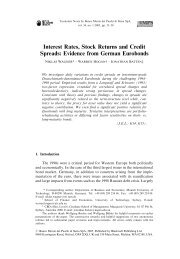 Interest Rates, Stock Returns and Credit Spreads: Evidence from ...