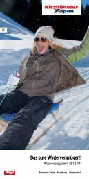 Wochenprogramm Winter 2013/14 - Kitzbüheler Alpen