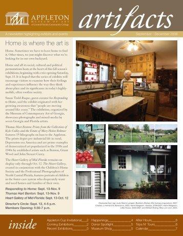 2008 September - December Issue - Appleton Museum of Art