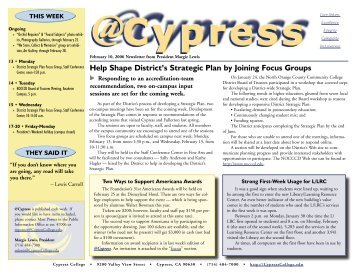 Help Shape District's Strategic Plan by Joining Focus Groups - News ...